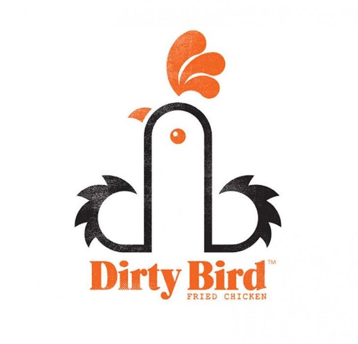 Logotipo Dirty Bird de pollo frito