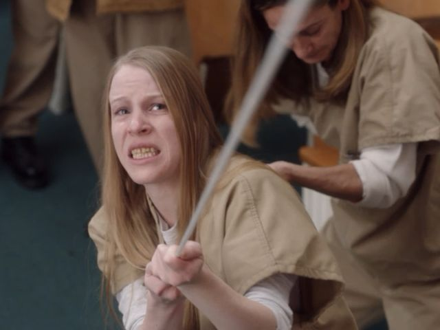 Leanne Taylor en una escena de la serie de orange is the new black