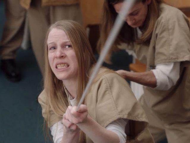 Leanne Taylor en una escena de la serie de orange is the new black