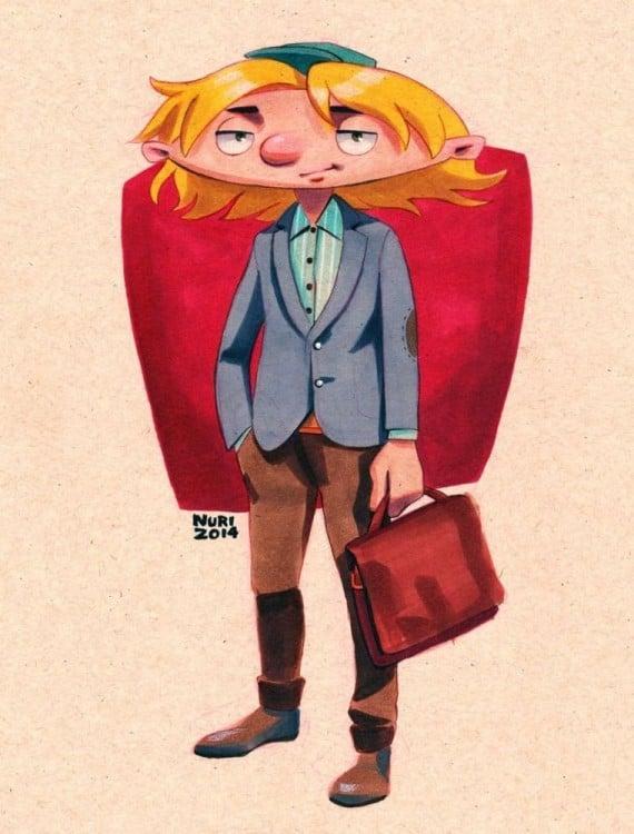 Personaje de Arnold a los 27 años