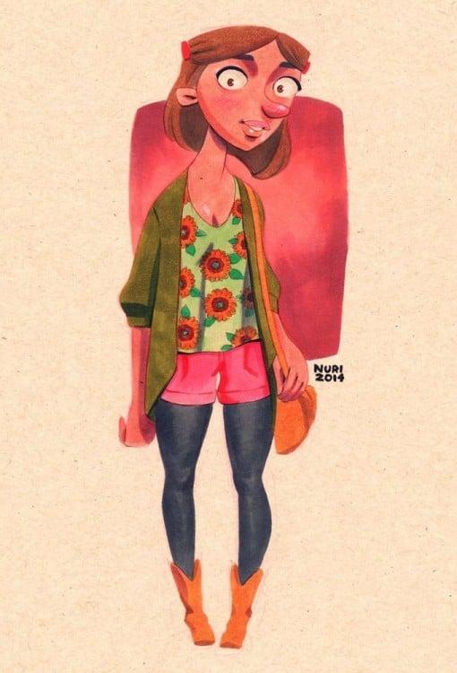 Sheena personaje de la caricatura  hey arnold si en realidad tuviera 26 años