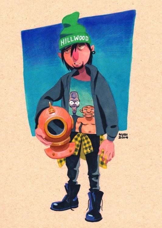 sid personaje de caricaturas de Hey arnold así se veria si tuvieran 26 años