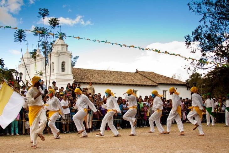 Baile de Moros y Cristianos en El Guancasco en Ojojona, Francisco Morazán