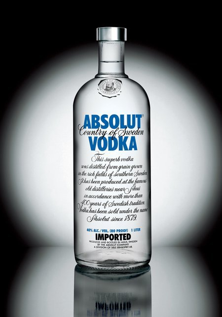 Botella de Absolut Vodka