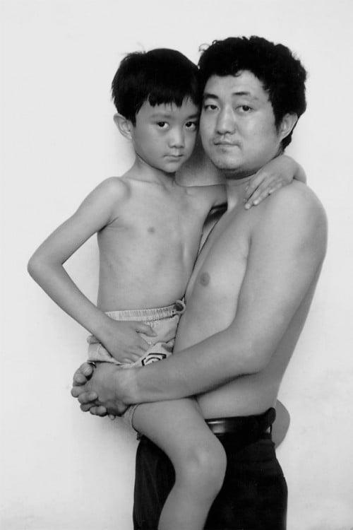 serie de fotos padre e hijo durante 29 años 1994