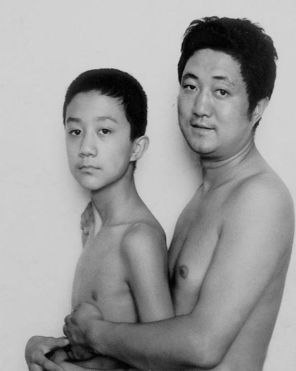 Foto padre e hijo 1998