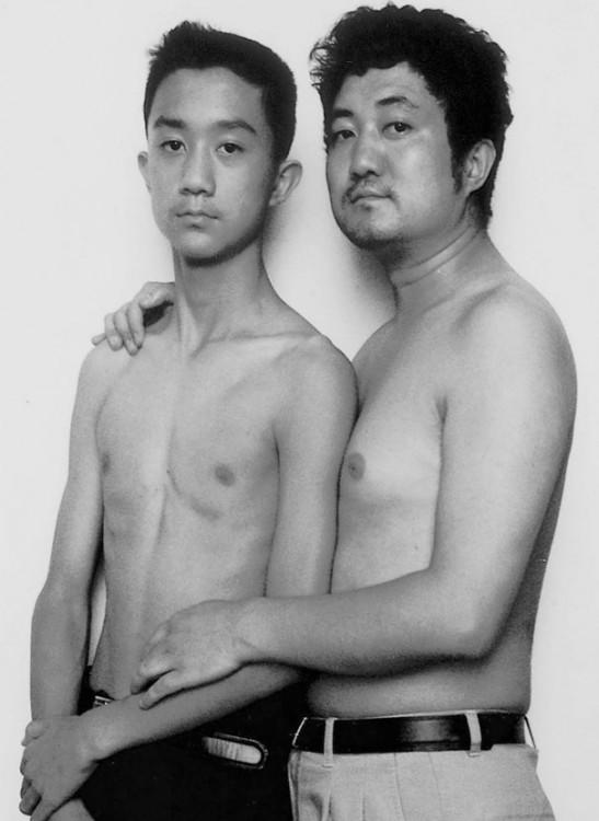 Serie de fotos padre e hijo 1999