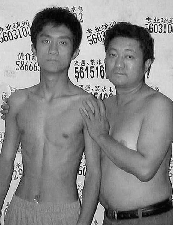 Serie de fotos padre e hijo 2003