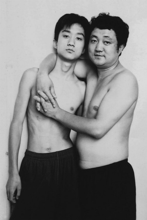 Foto padre e hijo 2002