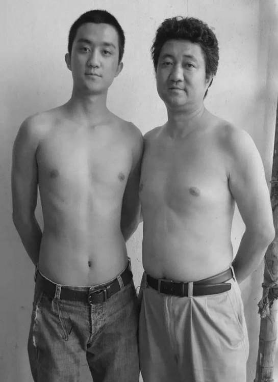 sesión de fotos padre e hijo durante 29 años en 2008