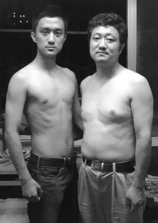 Fotografía padre e hijo en 2007