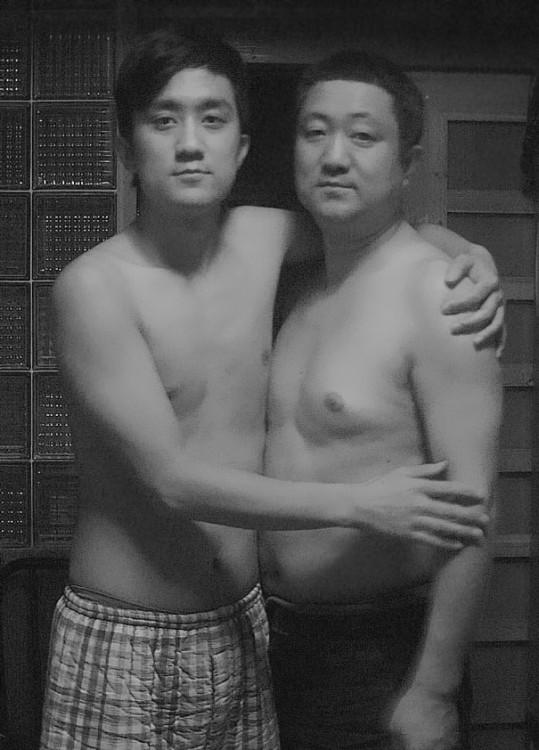 Foto padre e hijo en 2009