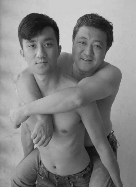 foto padre e hijo en 2013