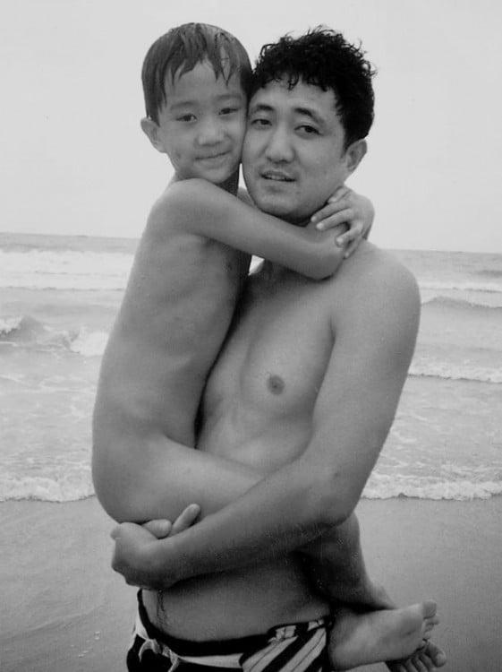 Serie de fotos padre e hijo 1992