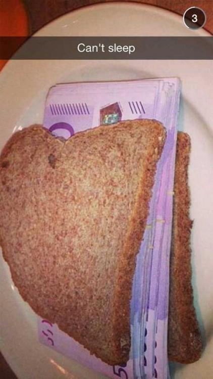 Sandwich relleno de billeres