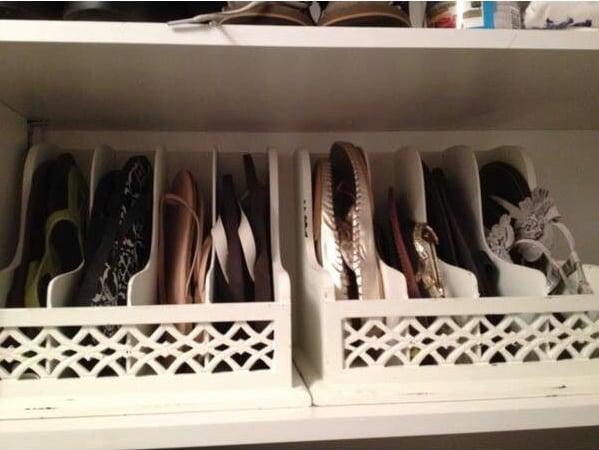Organizadores de zapatos para acomodar los zapatos