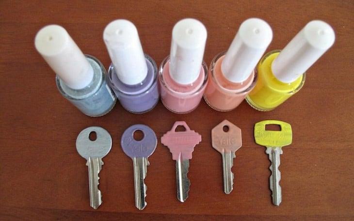pinta tus llaves con esmaltes para distinguirlas