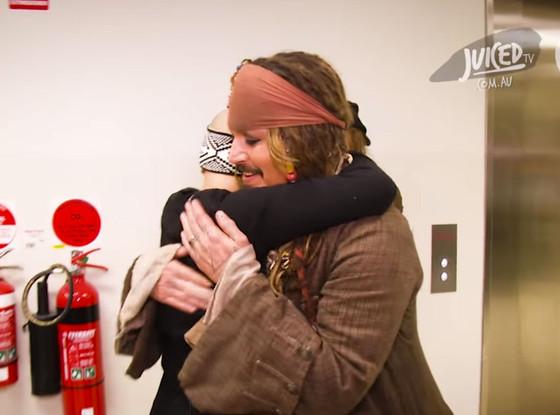 Visita de Johnny Depp al  Hospital de niños Virgen del Cilento