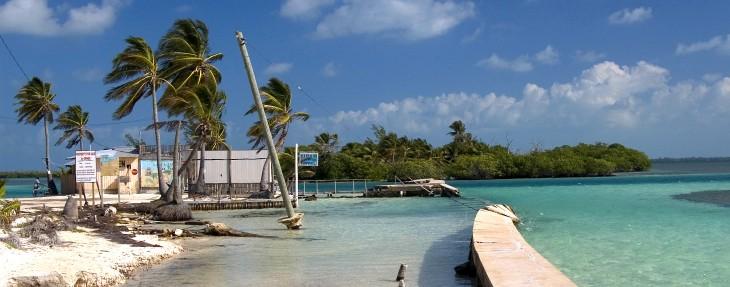 cayo caulker situado en el mar caribe de belice