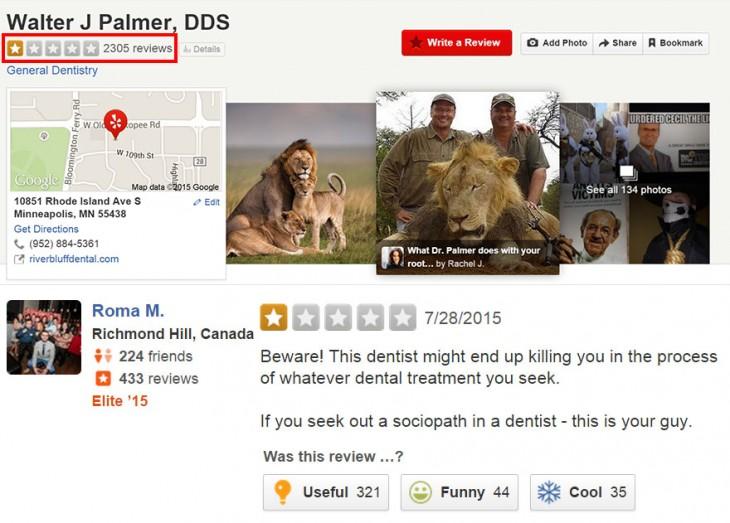 cecil el leon asesinado en el post de y el de walter palmer