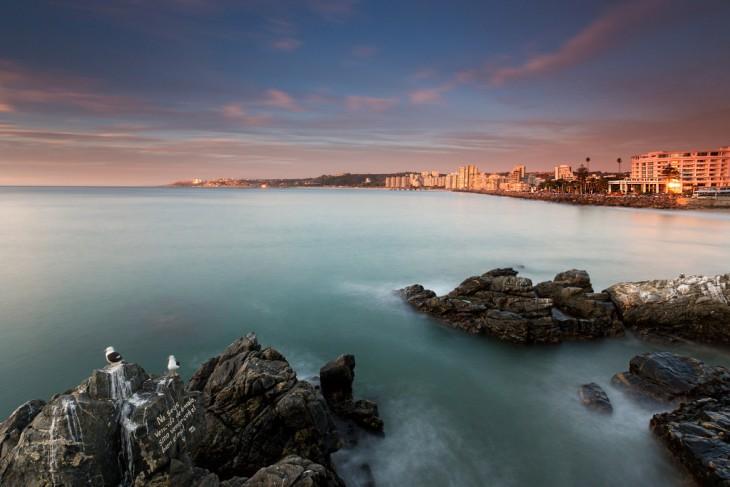 Atardecer panoramico en viña del mar chile