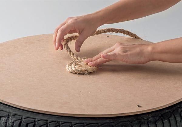 Fabrica un asiento rústico reciclando un viejo neumático