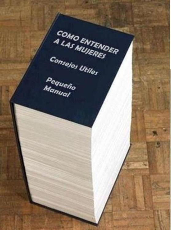 Libro que dice ser un pequeño manual para entender a las mujeres