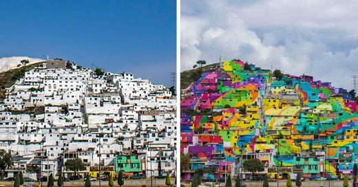 pintan casas de una comunidad en pachuca mexico