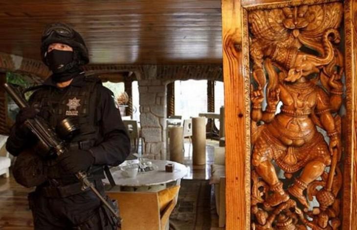 interior de una casa incautada por el gobierno federal mexicano a los beltran leyva