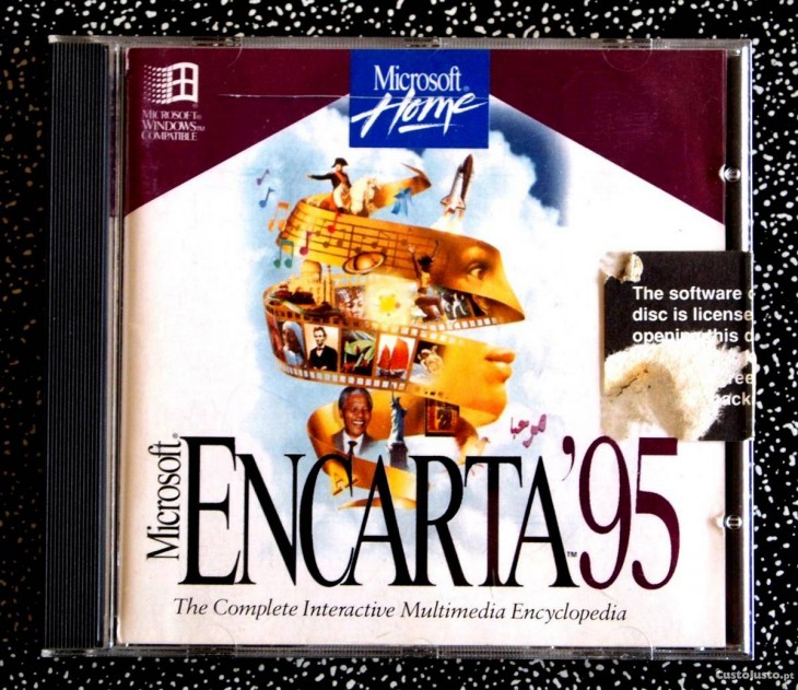 disco de encarta noventa y cinco muy utilizado en los 90s