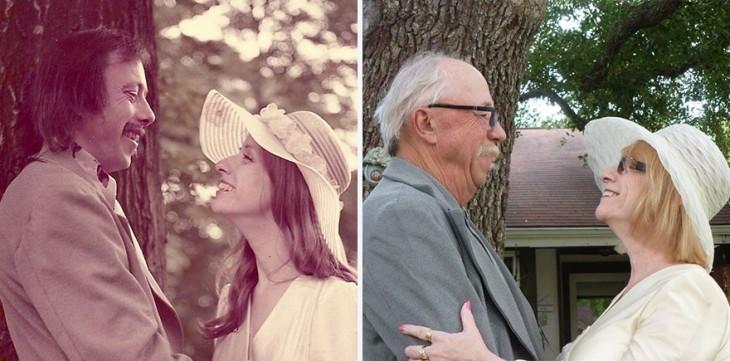 pareja celebra 40 aniversario 1975-2015