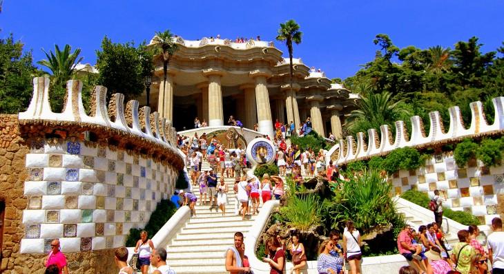 Parque Güell foto de frente en barcelona españa