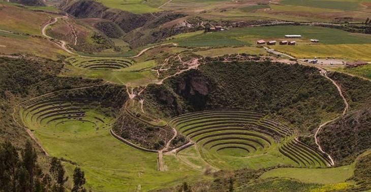 Valle Sagrado de la Cultura Inca. Terrazas de Moray