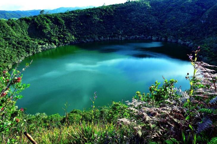 Laguna de guatavita bogota colombia