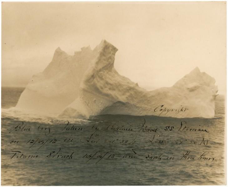 iceberg con el que choco el titanic