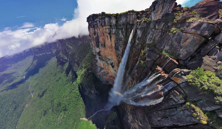 cascada salto del angel venezuela vista panoramica
