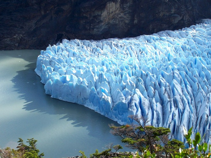 Glaciares chilenos en peligro de deshielo por cambio climático. Laguna de San Rafael, Chile.