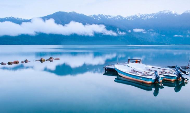 Lago de la patagonia en chile