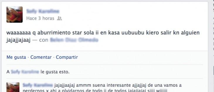 Mala ortografía en Facebook