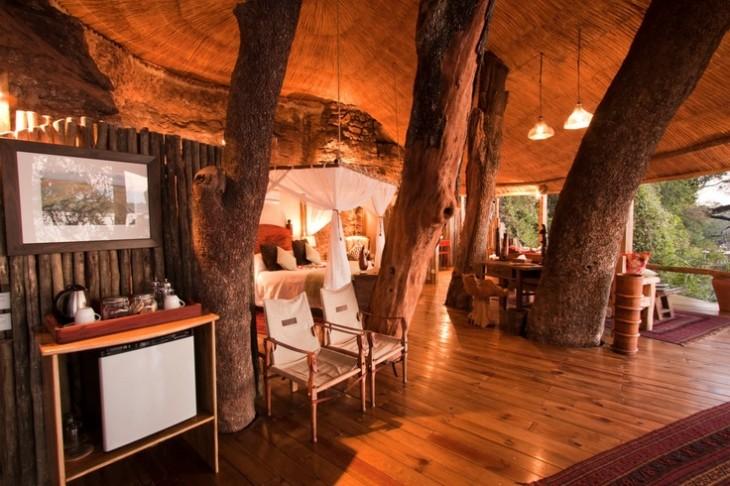 casa diseñada completamente de madera