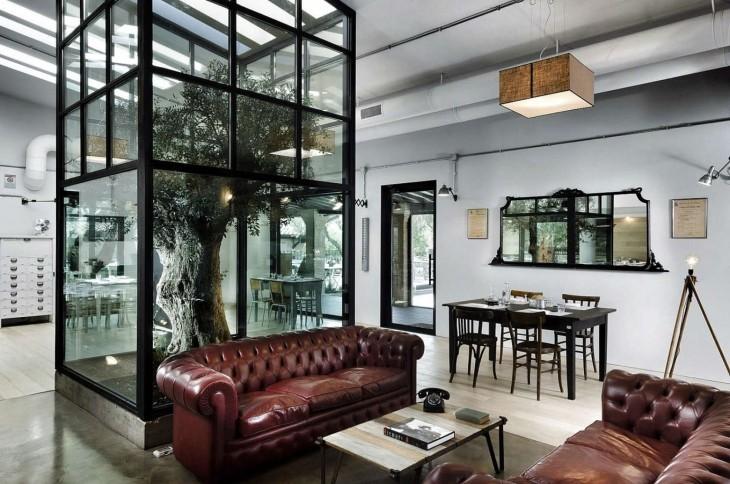 diseños de casa con arboles adentro