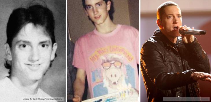 Eminem antes de ser famoso en su fotos de la juventud