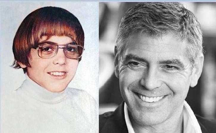 george Clooney cuando era un niños