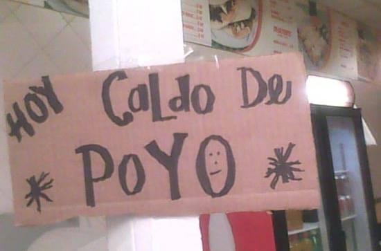 CALDO DE POYO