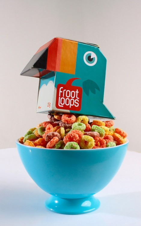 empaque creativo de froot loops