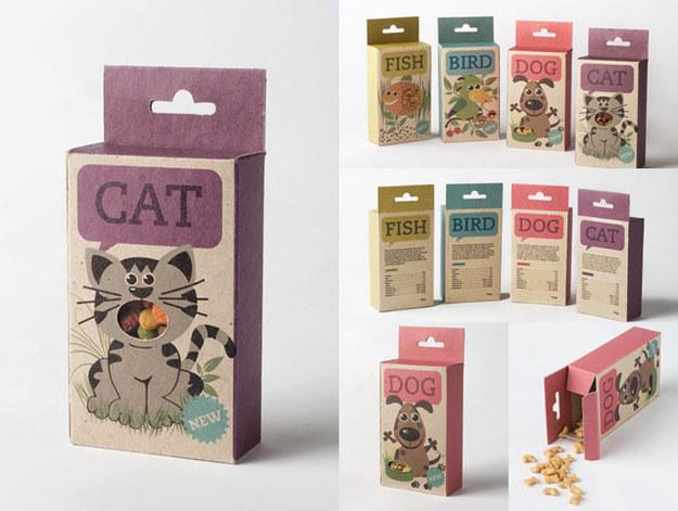 empaques de comida para gato