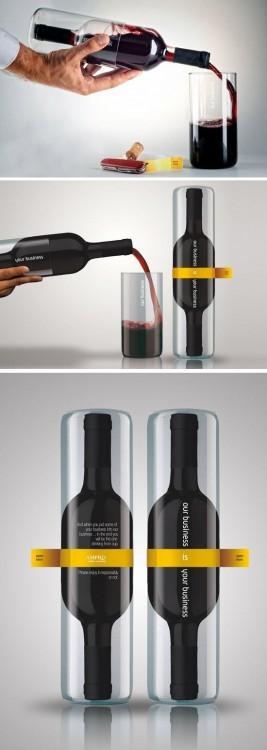 caja de botella para vino