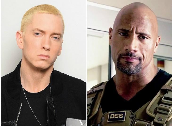 Eminem y Dwayne Johnson