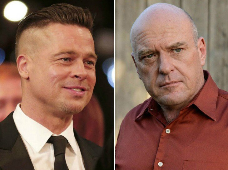 Brad Pitt y Dean Norris