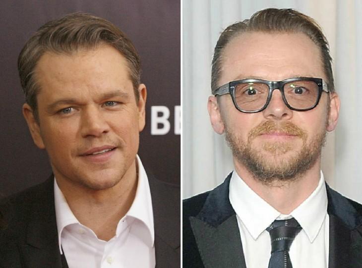 Matt Damon y Simon Pegg